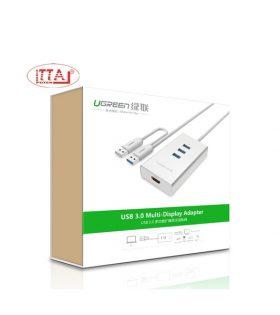 Cáp USB 3.0 sang HDMI và 3 cổng USB 3.0 chính hãng Ugreen 40257