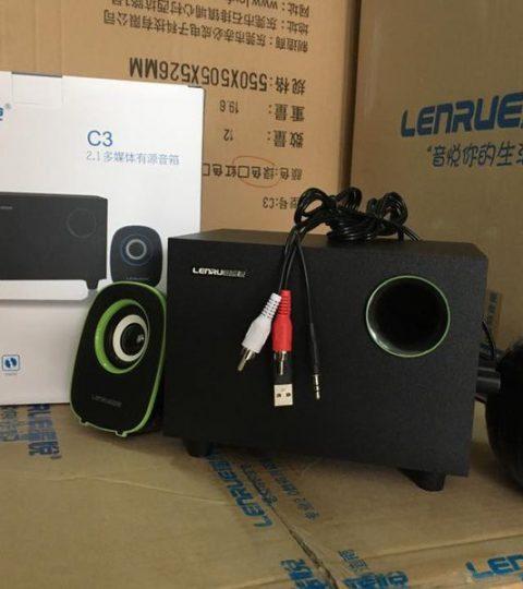 Loa LENRUE C3 chuẩn 2.1 cấp nguồn USB