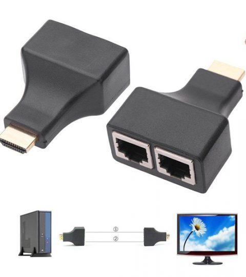 Bộ truyền HDMI qua dây LAN CAT5 CAT6 xa 30M